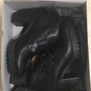 Eric Michael Black Leather Booties